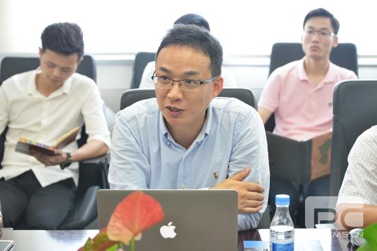 3、皓峰通讯毛孝鹍总经理在会上对建艺信息化第二期进行介绍.jpg